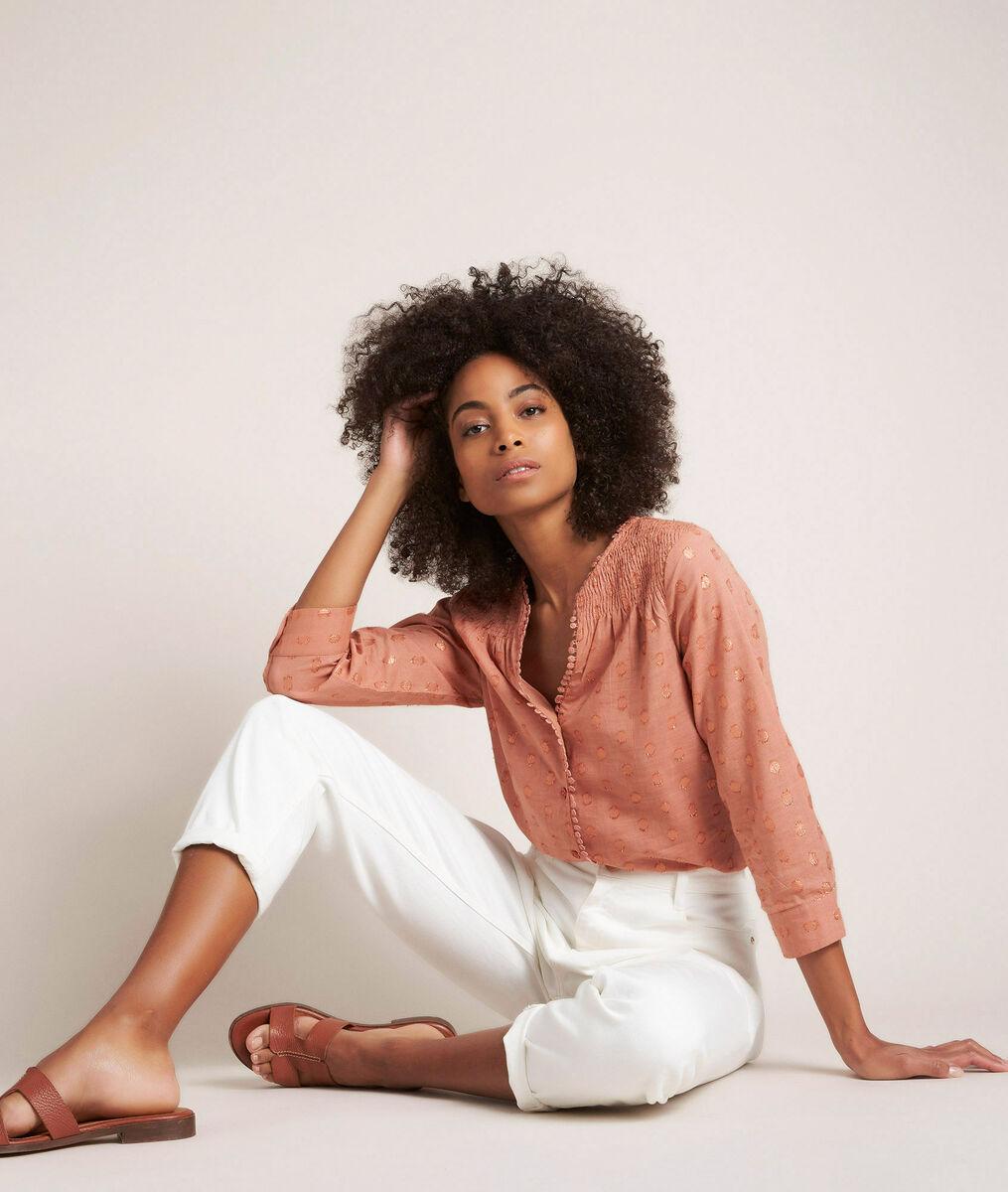 Roze lurex blouse Elma PhotoZ   1-2-3