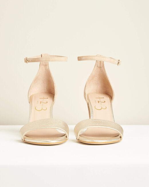 Sandales à talons nude en cuir Kris (1) - 1-2-3