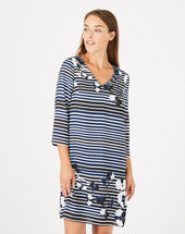 Abysse striped dress navy.