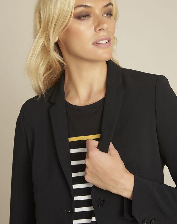 Eve black belted jacket in microfibre (3) - 1-2-3