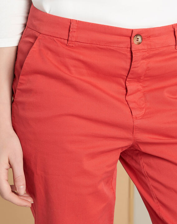Victoria raspberry chinos with turn-ups (1) - 1-2-3