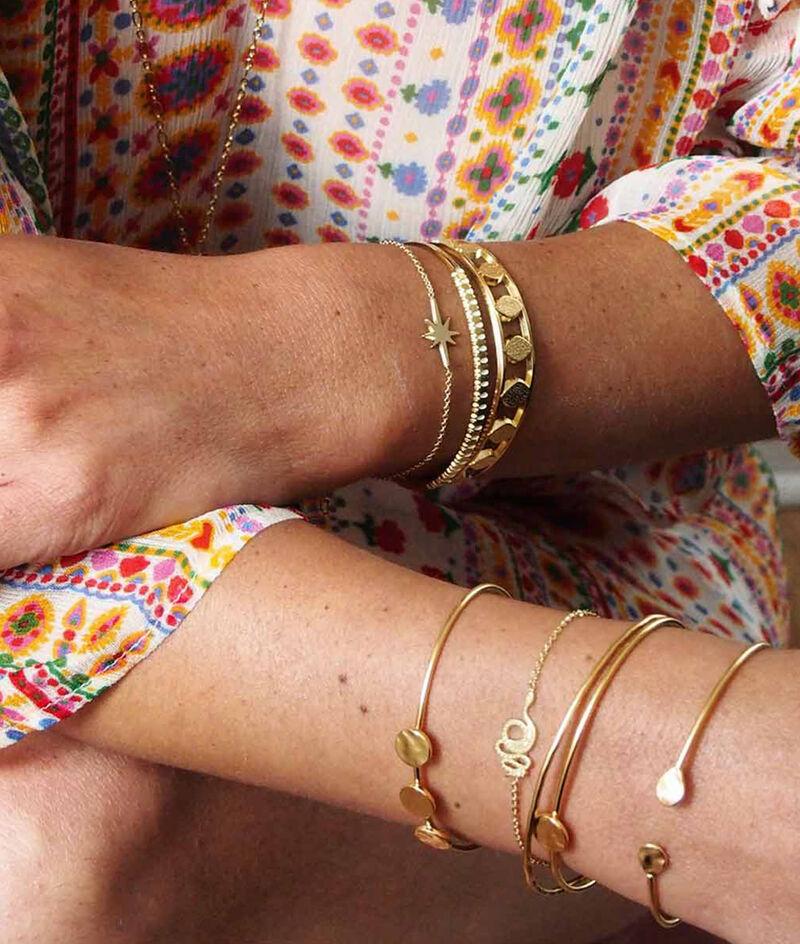 Bracelet jonc or pétale Bijoux Léone PhotoZ | 1-2-3