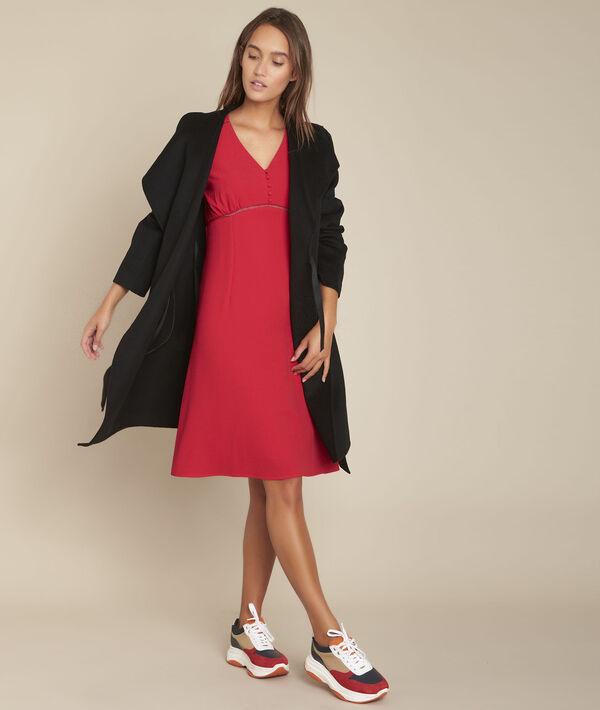 Robe rouge cintrée Ideale PhotoZ | 1-2-3