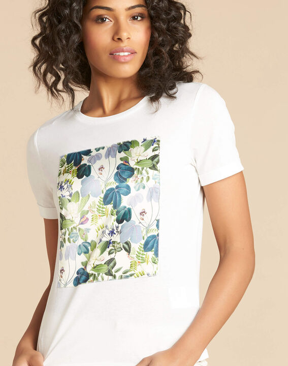 Esquare ecru T-shirt with floral pattern (1) - 1-2-3