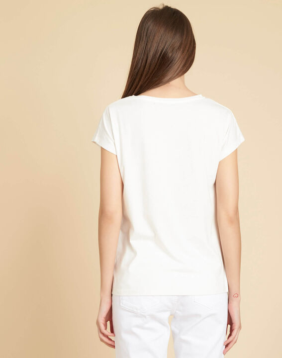 Erose white T-shirt with inscription (4) - 1-2-3