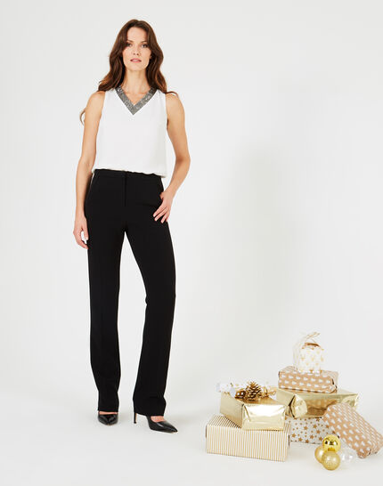 Victorien tailored black trousers with satin strips (3) - 1-2-3