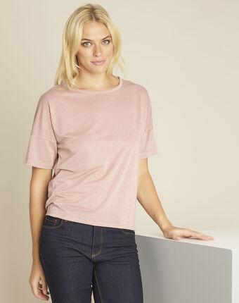 Galway pink lurex t-shirt rose.
