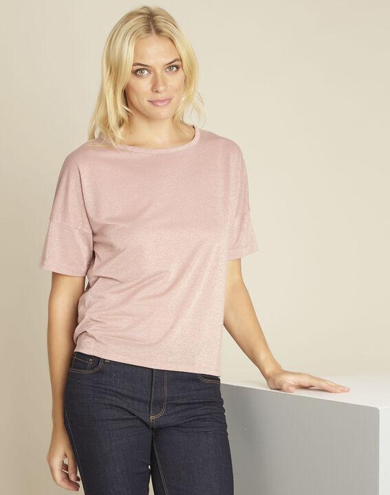 Rosa T-Shirt mit Lurex Galway (1) - 1-2-3