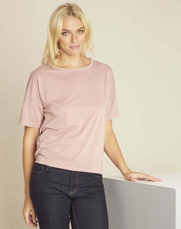 Tee-shirt rose lurex Galway (1) - 1-2-3