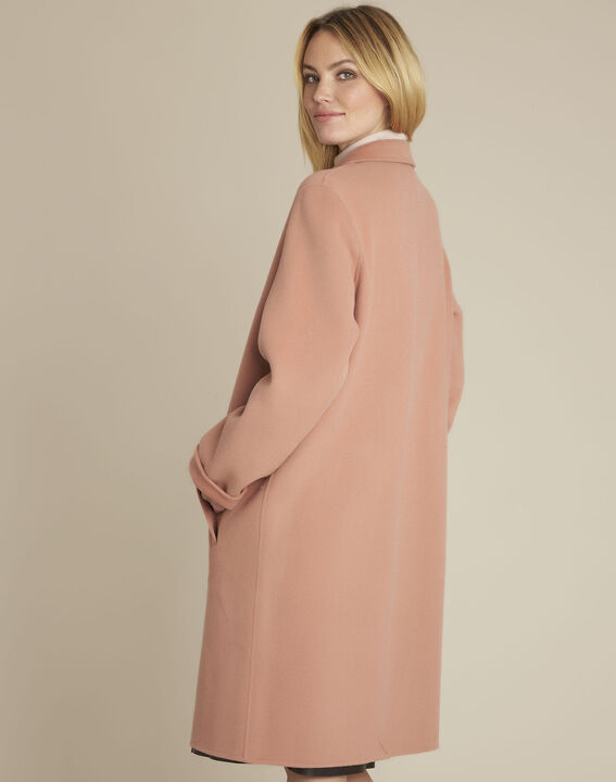 Edgar long pink coat with press-stud buttons (4) - 1-2-3