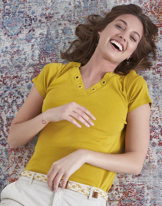 Tee-shirt anis encolure oeillets Basic (1) - Maison 123