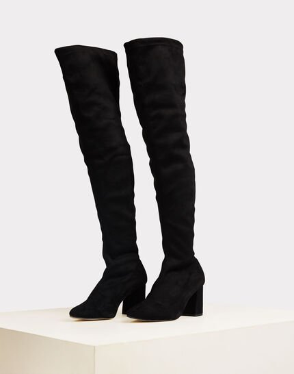 Nicky black leather heeled boots (3) - 1-2-3