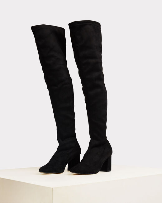 Nicky black leather heeled boots (2) - 1-2-3