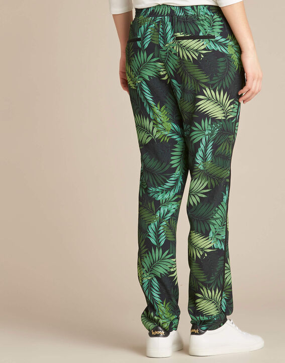 Scotty flowing trousers with leaf print (4) - 1-2-3