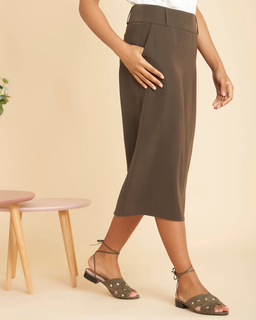 Frost long khaki skirt (2) - 1-2-3
