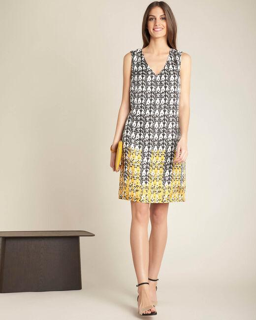 Zijden jurk met print Italy (1) - 37653