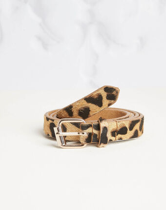 Ceinture beige imprimé léopard romeo beige.