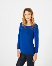 Pergola royal blue openwork sweater royal blue.