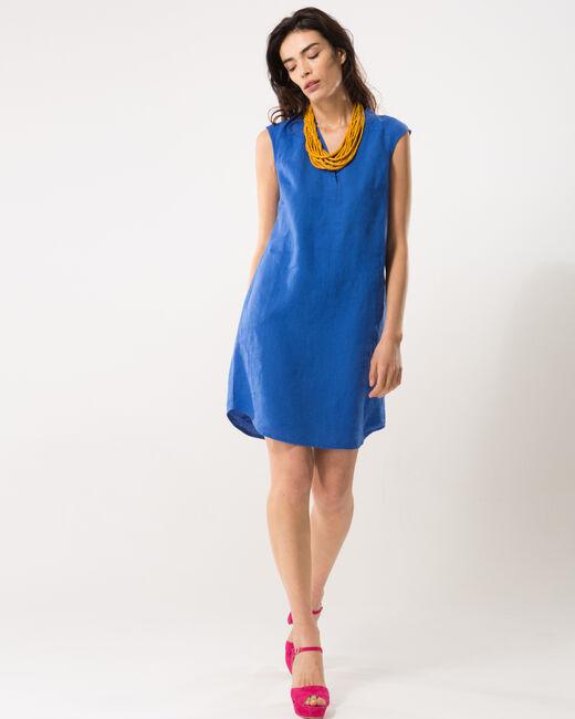 Robe bleu roi en lin Bellini (1) - 1-2-3