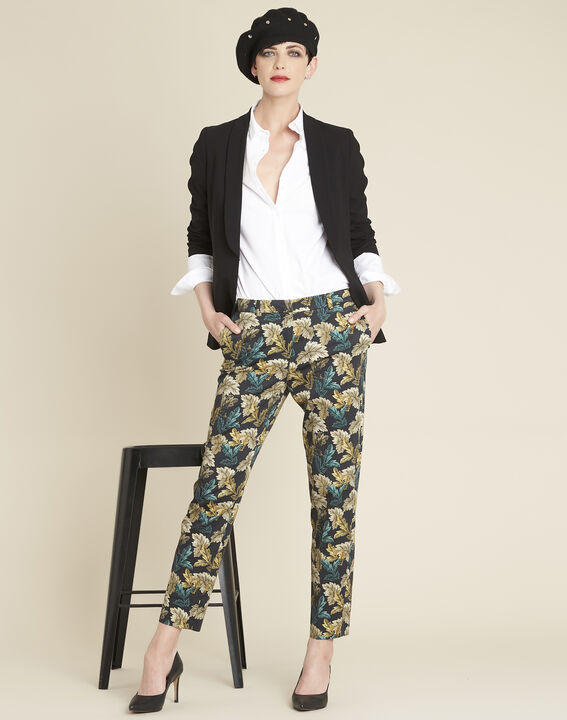 Viva tapered trousers with leaf print (2) - 1-2-3