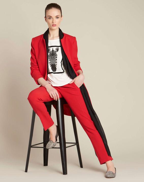Rote Slim-Fit Business-Hose Lara (2) - 1-2-3