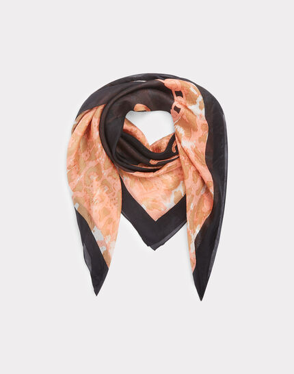 Eugenie silk printed scarf PhotoZ | 1-2-3