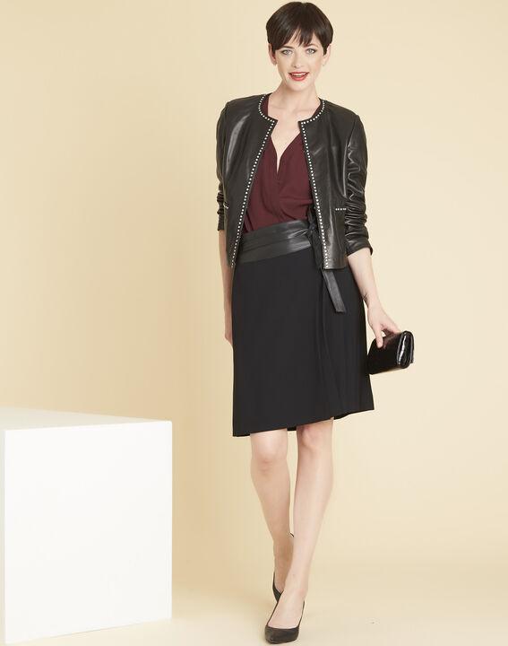Bordeauxrode blouse van kant Colette (2) - 37653