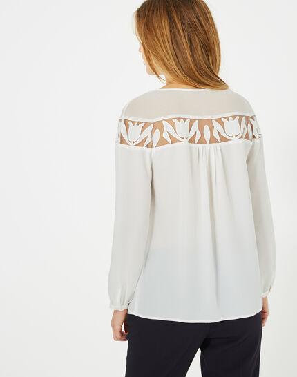 Delcia ecru blouse with petal detailing (5) - 1-2-3