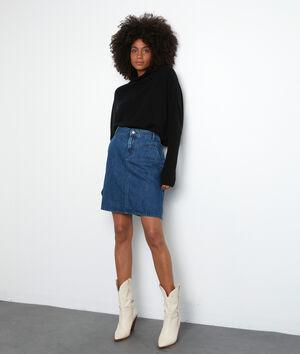 Mini-jupe en denim brut Francesca