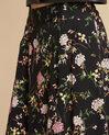 Jupe noire dansante imprimé fleuri Lassie (1) - 1-2-3