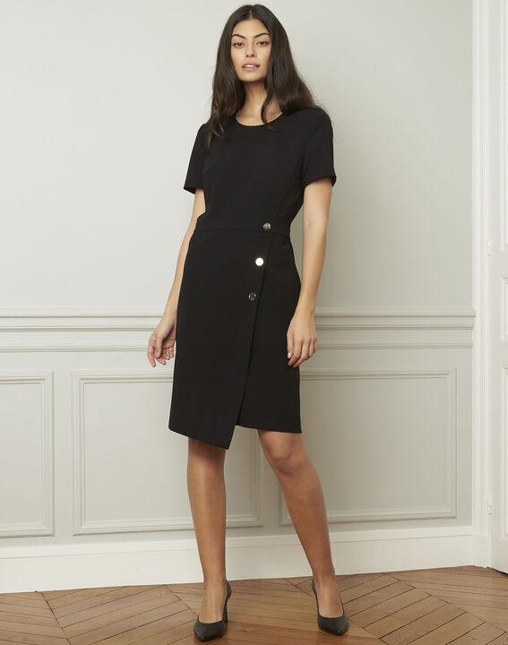 Robe noire détails boutons Lucia (1) - Maison 123