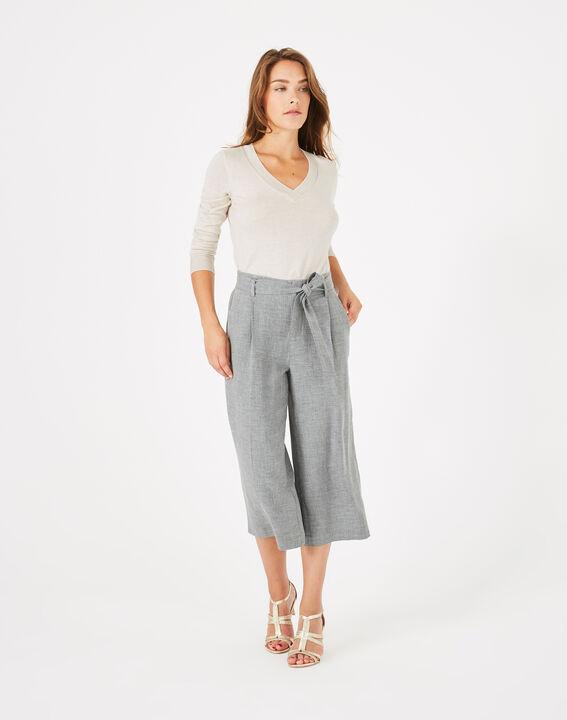 Pantalon gris cropped Kris PhotoZ | 1-2-3