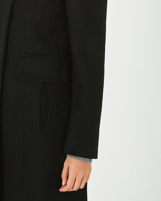 Manteau noir en laine mélangée Janis (2) - 1-2-3