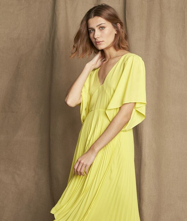 Gelbes Kleid plissiert Hedwige PhotoZ | 1-2-3