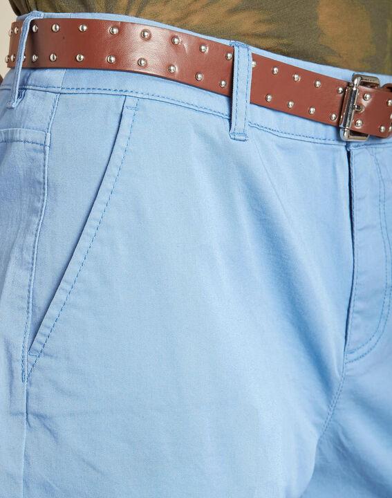 Slim fit lichtindigo 7/8-broek van katoen Francis PhotoZ | 1-2-3