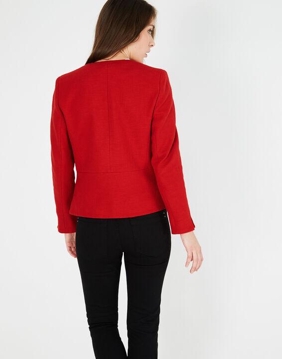Veste rouge en coton mélangé Margot (3) - 1-2-3
