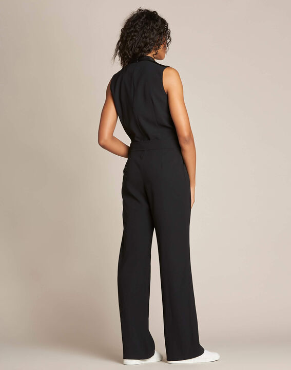 Gloria tuxedo-style black jumpsuit (4) - 1-2-3
