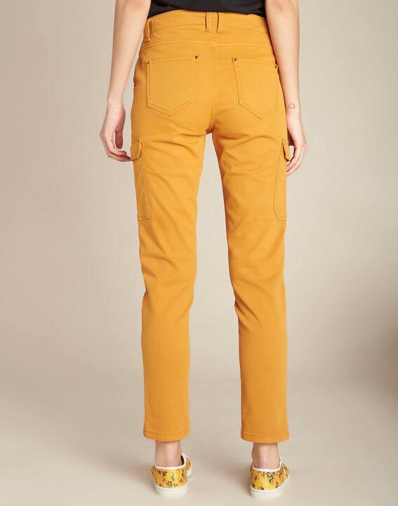 Pantalon jaune moutarde cargo 7/8ème Damien (4) - 1-2-3