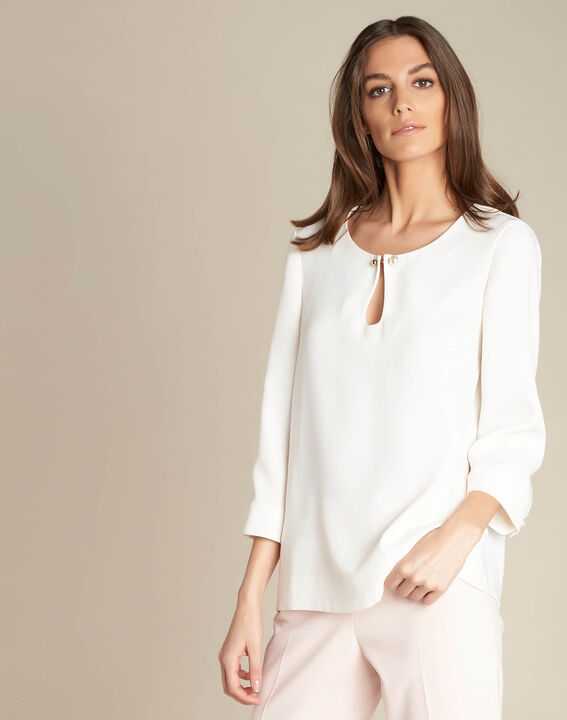 Gerry ecru blouse with jewelled detailing (3) - 1-2-3