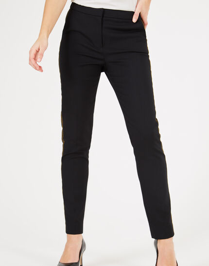 Voda tailored black trousers with strips (3) - 1-2-3