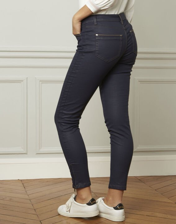 Marineblaue beschichtete 7/8 Slim-Fit-Jeans Opera (3) - 1-2-3