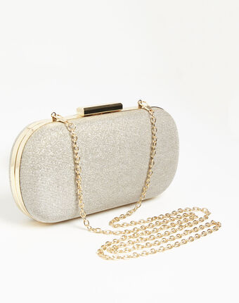 Iman gold clutch bag gold.