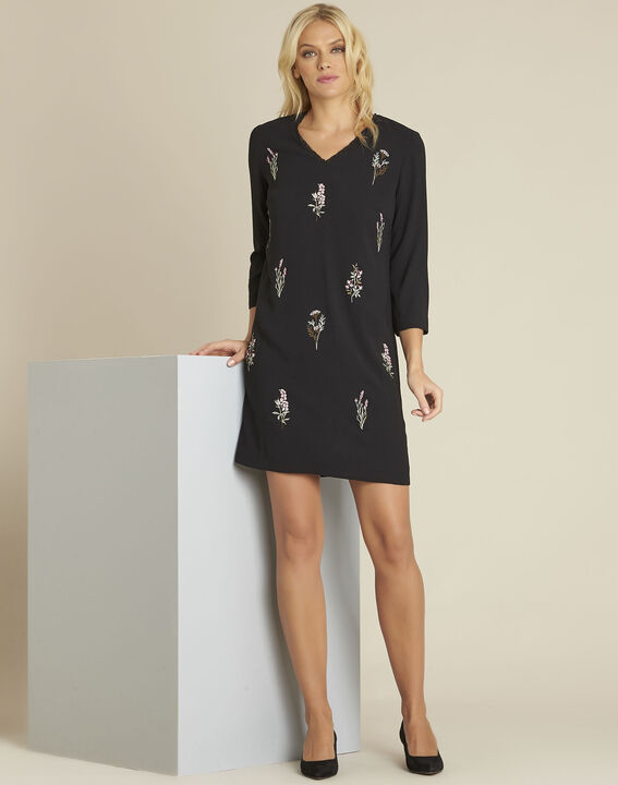 Drew black lace embroidery dress (3) - 1-2-3