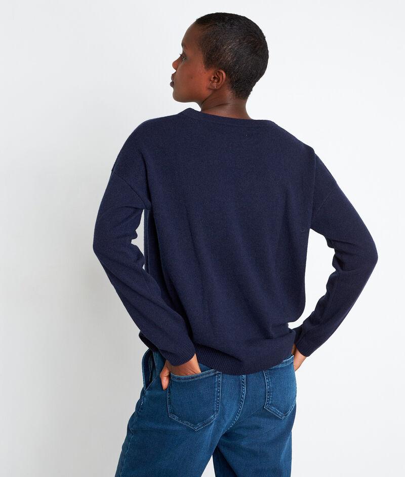 Marineblauwe trui van kasjmier Timeo PhotoZ   1-2-3