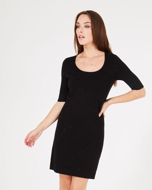 Schwarzes Kleid mit Strass Princesse (2) - 1-2-3
