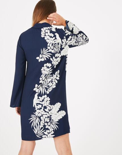 Robe chemise imprimé fleuri Azur (5) - 1-2-3