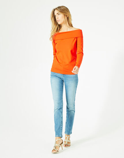 Tee-shirt géranium col fantaisie Bardo (2) - 1-2-3