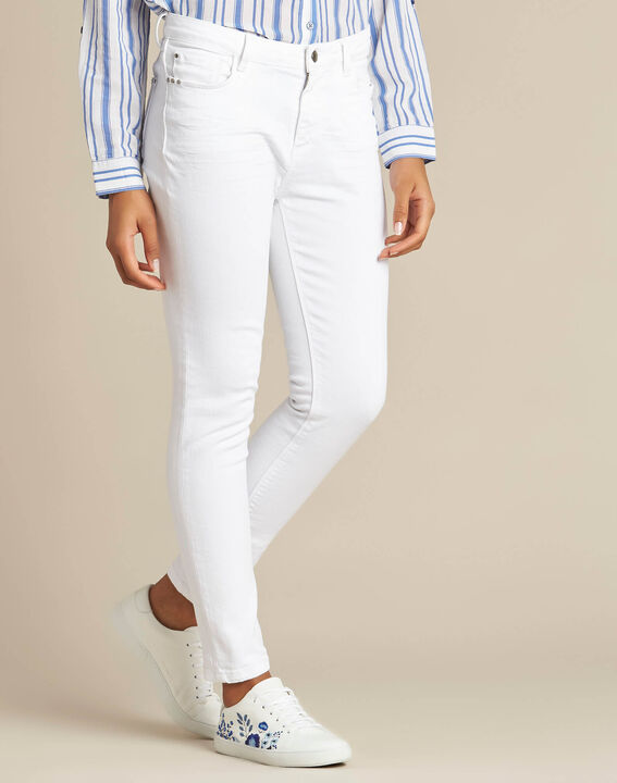 Vendôme white 7/8 length jeans (3) - 1-2-3