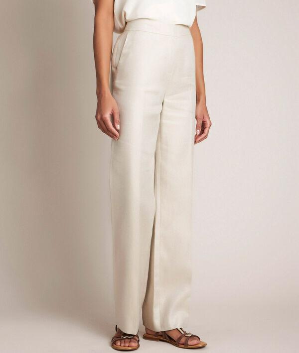 Pantalon en lin brillant Iana PhotoZ | 1-2-3