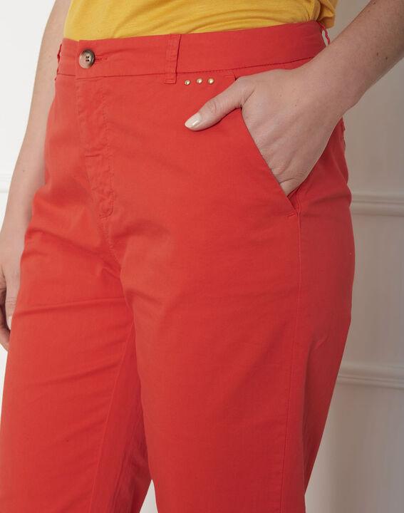 Pantalon rouge chino Calypso (4) - Maison 123